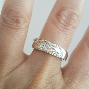 Other - Mens 6mm Wedding Band CZ Ring size 9